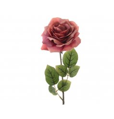 A stunning blush coloured silk rose on a stem.