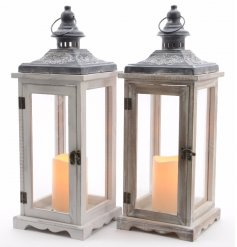 Stunning wooden lanterns with led lights and decorative details.