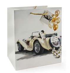 Classic design wedding gift bag with car image