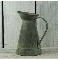 Decorative zinc jug in a vintage design