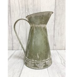 Decorative zinc jug in a vintage design