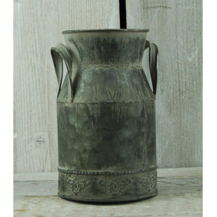 Distressed Zinc Churn, 18cm