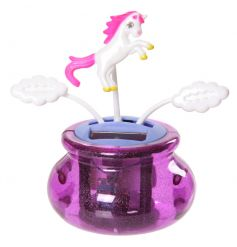 A wonderful Unicorn solar pal with a pink glitter base and floating clouds.