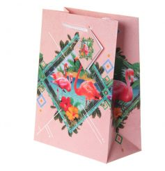 Flamboyant style gift bag with popular Flamingo design