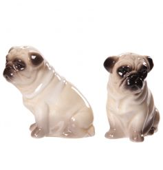Cute and quirky ceramic salt and pepper set in a pug design