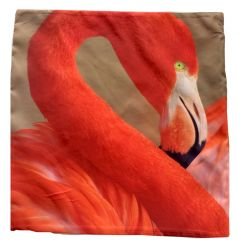 An on trend bright and colourful flamingo cushion with inner included.