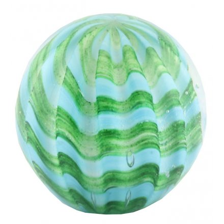 Add a beautiful colourful touch to any space of the home with this round sleek paperweight