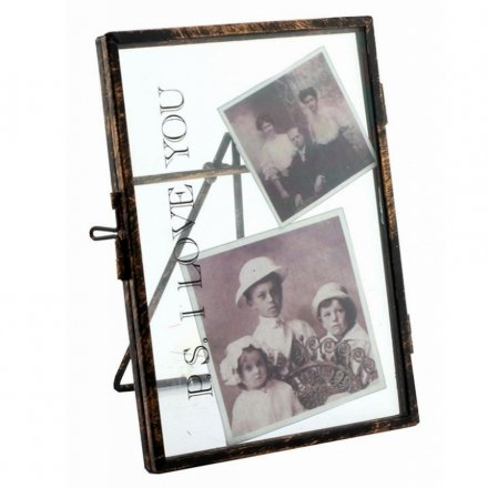 LP27515 / PS I Love You Metal Standing Glass Frame 4x6 | 26989 ...