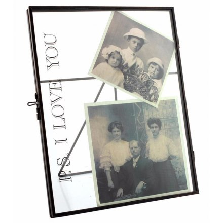 LP27517 / PS I Love You Metal Standing Glass Frame 8x10 | 26991 ...