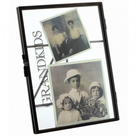 LP27521 / Grandkids Metal Standing Glass Frame 4x6 | 26998 | Photo ...