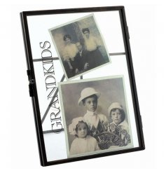 Shabby and chic standing picture frame with Grandkids text