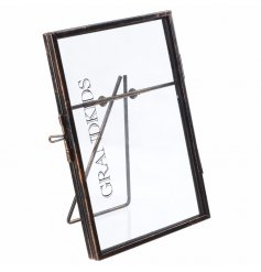 Chic metal standing frame with Grandkids text