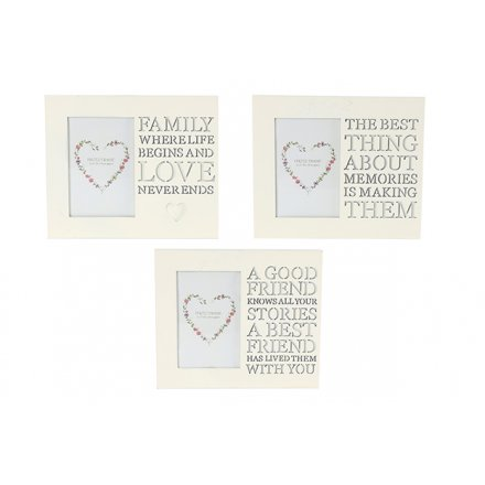 TF0065 / Frame With Cut Out Words | 27041 | Homeware / Photo Frames ...