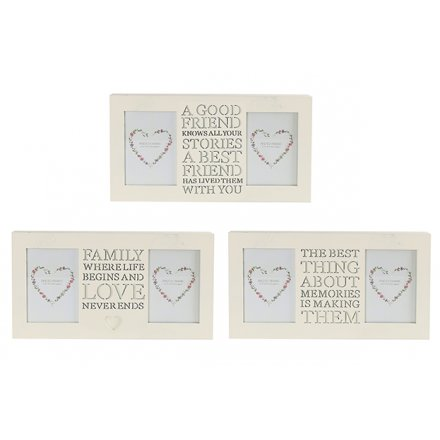 TF0064 / Frame With Cut Out Words | 27042 | Homeware / Photo Frames ...