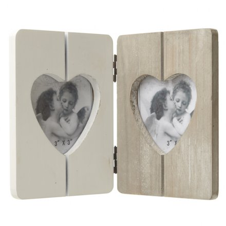 Heart Folding Picture Frame 21cm