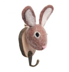 Cute rabbit hook made from a chic wool material