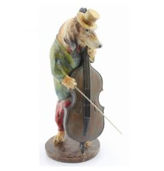 Collectable musician dog figurine by Leonardo
