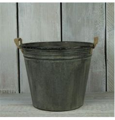 Large rustic planter with handles to finish
