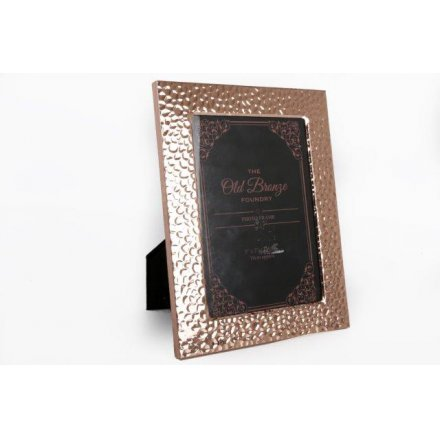 PH2022 / Hammered Style Copper Photo Frame | 27419 | Photo Frames ...