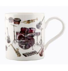 China mug with music instrument print