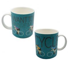 Cycling china mug with gift box