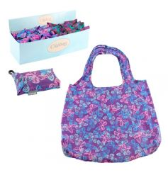 Bright and stylish pocket sized bags with a clip. Perfect for shopping.