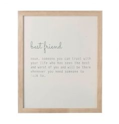 By Heaven Sends, a lovely best friend with sweet quote