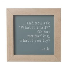 Popular quote inside a chic photo frame style sign