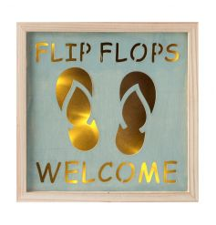 A wooden LED frame with flip flop design