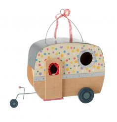 Ornamental caravan with pretty polka dot design