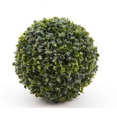 Decorative boxwood ball, ideal for interior and exterior decoration.