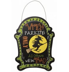 Humorous halloween wooden sign