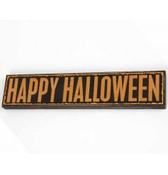Chunky wooden sign with Halloween text