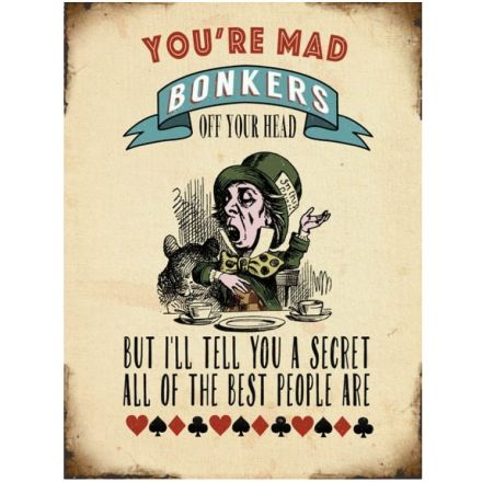 Mad Bonkers Retro Metal Sign