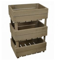 Stylish and practical crate storage unit, perfect for counter and shop display.