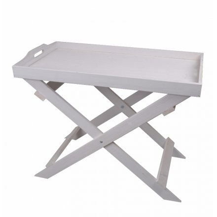 Tray On Stand, White