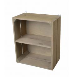 A charming and rustic 2 shelf crate storage unit, suitable for multiple uses.