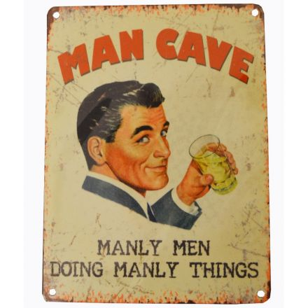 Retro Man Cave Metal Sign