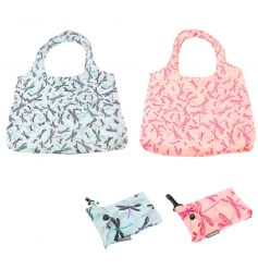 Stylish and practical dragonfly clip bags in pink and blue assorted colours.