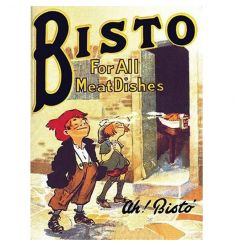 A vintage Bisto Original metal sign ideal for nostalgic home decoration.