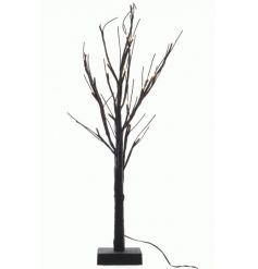A stunning light up twig tree in black with a touch of glitter.