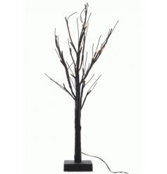 A stunning black glitter twig tree with LED lights. A great display item and accessory for the home and garden.
