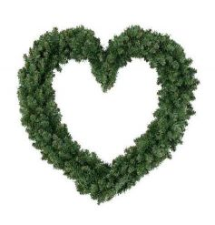 A large imperial heart wreath. A stunning item displayed as pictured or personalised with lights or decorations.