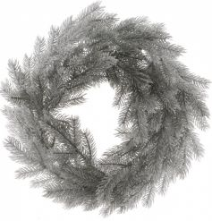 Extra large artificial pine wreath with frosted coating