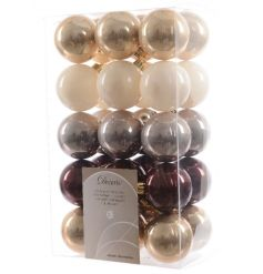 A great value mixed pack of on trend coloured baubles.