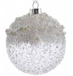 Pack of 3 Pearl Shimmer Baubles