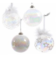 Glass Baubles Iridescent