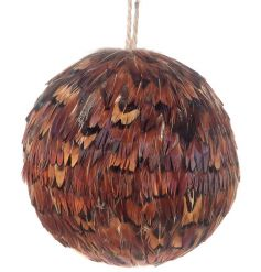 A fine quality brown feather bauble.