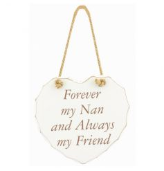 Forever my nan popular slogan on a chic white heart