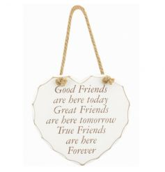 A heart hanging plaque from the popular Heart Sentiment collection